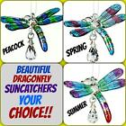 WOODSTOCK FANTASY GLASS DRAGONFLY SUNCATCHER CHOICE HAND BLOWN GLASS + CRYSTAL