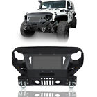 Textured Black Front Bumper w Grill Guard  Winch For Jeep Wrangler JK 07 18
