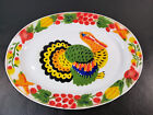 Vintage Enamel Ware Thanksgiving Turkey Serving Platter 175 Holiday Decor