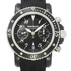 Auth MONTBLANC Meisterstuck Sports Chronograph Black Dial 7044 Mens 90045919