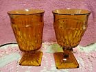 Indiana Glass Water and Ice Tea Goblet Amber Mount Vernon  Vintage 2 Pieces