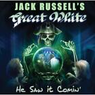 2017 JACK RUSSELL'S GREAT WHITE He Saw It Comin' with Bonus Track JAPAN CD