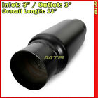 3 inch SUV Exhaust Muffler Glasspack Stainless Steel Black Straight Thru 232856