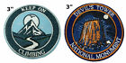 National Park Series 2 Pcs Embroidered Patch Iron / Sew-on Souvenir Travel