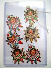 Adorable Vintage Die Cuts w Children Clowns Faces Collars and Hats