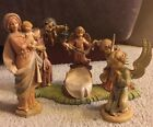 Vintage Made In Italy Depose Nativity Scene w Angel And Mary And Child Figures