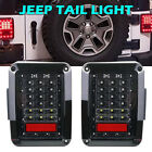 2xFor Jeep Wrangler JK 07 17 LED Tail Lights Rear Reverse Brake Turn Signal DRL