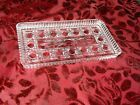Vintage Pressed Clear Glass Rectangular Relish or VANITY Tray