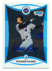 2008 BOWMAN CHROME DRAFT WILMER FLORES RC AUTO ROOKIE AUTOGRAPH NY METS QTY