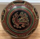 Vintage Burmese Hand-painted Lacquer Round Box