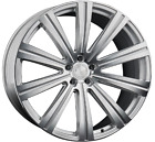 22 VANGUARD MACHINED SILVER WHEELS RIMS FOR JAGUAR XJ XJL 22X9 105 5X108
