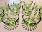 VTG Federal Green Uranium Vaseline Hostess Coffee Tea Cup LOT depression glass