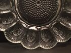 Crystal Clear Glass Deviled Egg Oyster Relish Dish 11
