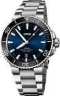 New Oris Aquis Date Blue Dial Stainless Steel Men's Watch 73377304135MB