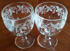 Vines Thumbprint Goblet Set of 2