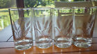 Vintage Juice Glasses Golden Wheat gold rims weighted bottom 4 6 oz circa 1950