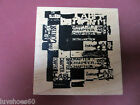 CLUB SCRAP Chapters Wood Mount Rubber Stamp Background College School Books