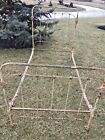 Antique Victorian Cast Metal Wrought Iron Twin Size Bed Frame w/Rails