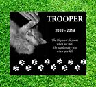 12x10 custom Pet Headstone tombstone Laser Engraved Grave Marker non Granite