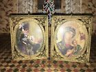 Antique Miniature Ornate Metal Picture Frame Pair - Germany