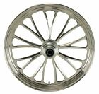 Polished Manhattan CNC 21 x 215 Dual Disc Front Wheel for Harley