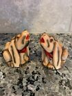 Ceramic Howling Dog Salt And Pepper Shakers