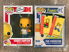 Funko Pop Homer Simpson 01 NEW STACK PROTECTOR & PINS INCLUDED Simpsons Vaulted