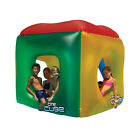 The Cube 5 Seat Red Yellow Blue Inflatable Swimming Pool Toy and Float Ride On