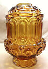 STARS FAIRY LAMP AMBER GLASS SCALLOPED RIM