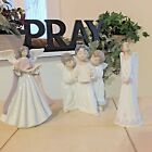 LLADRO GROUP OF ANGELS #4542 TREE TOPPER #5831 PEACE BELL #6473 FAST SHIPPING!!