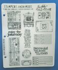 Tim Holtz GOING SOMEWHERE Stampers Anonymous Cling Rubber Stamps TICKET Journey