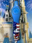 NEW DISNEY PARKS Mickey Mouse USA BLUE Magic Band Magicband 2 Unlinked