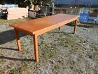 Large Antique 8 Feet  All Wood Farmhouse  Table Dining /Work///Event/ General