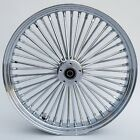 Chrome Ultima 48 King Fat Spoke 21 x 35 Front Single Disc Wheel For Harley