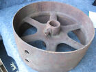 Vintage Flat Belt Pulley Hit and Miss Industrail Primitive Farm