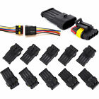 10pcs 234 Pin Way Car Waterproof Electrical Connector Plug Wire Awg Hid Fog 2p