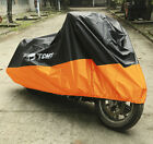 Size XXXXL Orange Waterproof UV Dust Rain Motorcycle Cover For Harley Touring