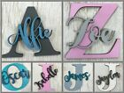 ANY NAME  COLOUR Personalised painted wooden letter with script name