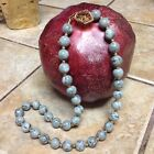 Vintage Monet Necklace Grey Lucite Swirl Marble Estate Costume Jewelry 17 Rare