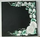 White Roses Wedding Scrapbook Page Creative PreMade Hand painted