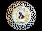 ANTIQUE HAND PAINTED PORCELAIN PLATE FROM 1895 GERMANY,PORTRAIT OF MAN.