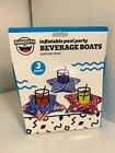 Big Mouth Americana Inflatable Swimming Pool Party Beverage Boats Drink Float