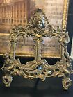 Antique Vintage Gilt Metal or Brass Double Photo Picture Frame - Stunning