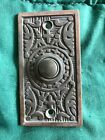 Antique Ornate Brass/Bronze Door Bell Button removed from 1927 house NO screws