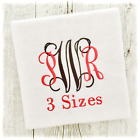 INTERTWINED MONOGRAM MACHINE EMBROIDERY DESIGNS FONT 3 SIZES IMPFCD04