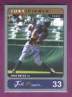 2002 Just Minors JUSTIFIABLE JOSE REYES N.Y Mets ON CARD AUTOGRAPH SP #d 229 375