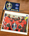 NASA Shuttle Discovery STS 116 Mission Flag 4 x 6 and Crew Poster 8 x 10