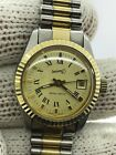 EBERHARD ROYAL MATIC AUTOMATIC GOLD18K&STEEL LADY 25mm SWISS MADE JUST SERVICED