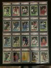 1986-87 O-PEE-CHEE 20 CARD LOT ALL PSA GRADED 8's AND 9's