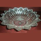 Vintage 1960's Federal Glass Bowl Petal Pattern Clear 10 1/8 inches round